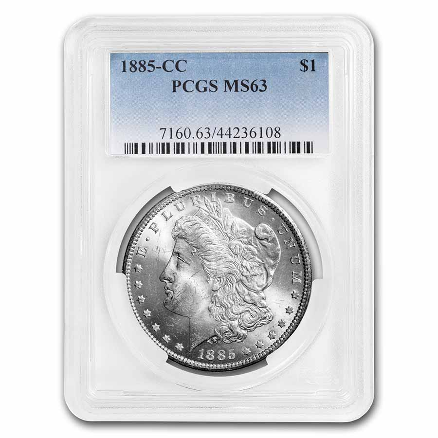 1885-CC Morgan Dollar MS-63 PCGS